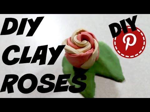 DIY Clay Roses - DIY Pinterest