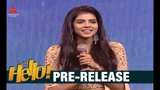 Kalyani Priyadarshan Cute Speech At HELLO Pre Release Event | Akkineni Akhil | Kalyani Priyadarshan