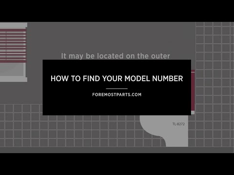 How to find your model number