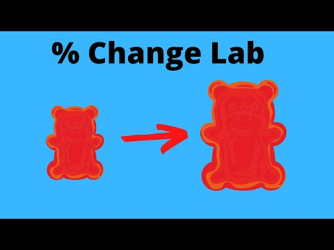 Calculate Percentage Change with Gummy Bear Lab