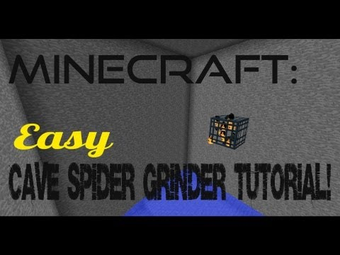 Minecraft: Easy Cave-Spider EXP Grinder Tutorial!