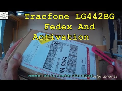 Tracfone LG442BG: Fedex And Activation