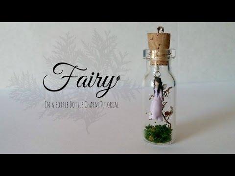 Fairy in a bottle ♥ Bottle Charm (Polymer Clay) Tutorial