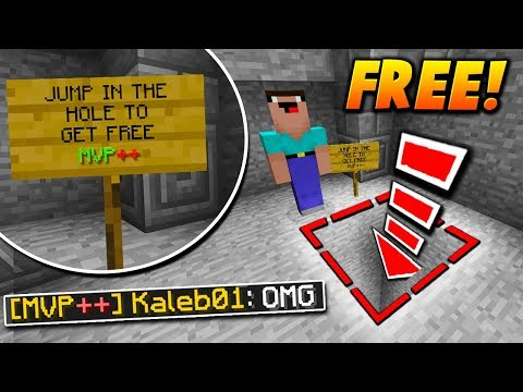 FREE RANK SIGN TRAP! - Minecraft SKYWARS TROLLING (THEY FELL FOR IT!)