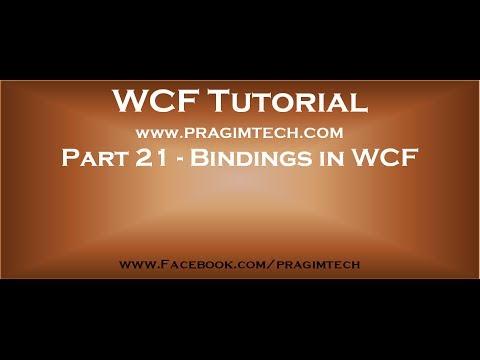 Part 21   Bindings in WCF