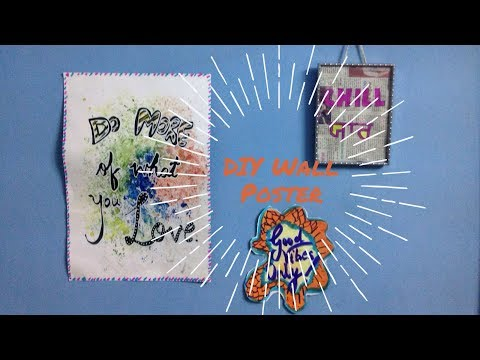 DIY Wall Poster | Room Decor Cheap and Easy Ideas!