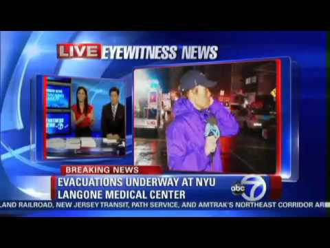 NYU Langone Medical Center evacuated due to power outage | Hurricane Sandy