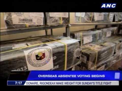 Overseas absentee voting begins