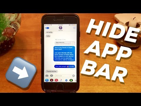 Hide iMessage App Bar on iPhone in iOS 11!! HOW TO TUTORIAL GUIDE!!