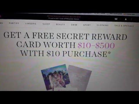 Como Recibir Una Targeta de Victoria Secret Rewards Card por correo sin hacer una Compra