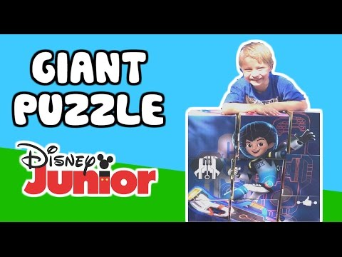 GIANT DISNEY JUNIOR Puzzle + Miles from Tomorrow Land, Mickey Mouse, Jake and the Neverland Pirates