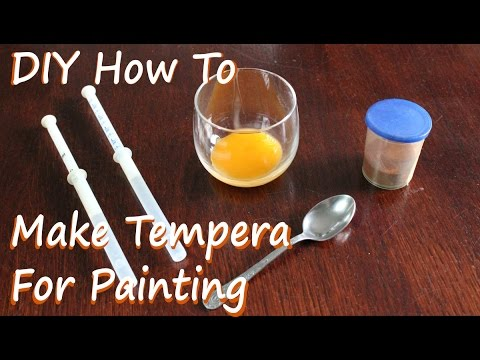 DIY Egg Tempera - How To Make Tempera for Painting (Home Made)