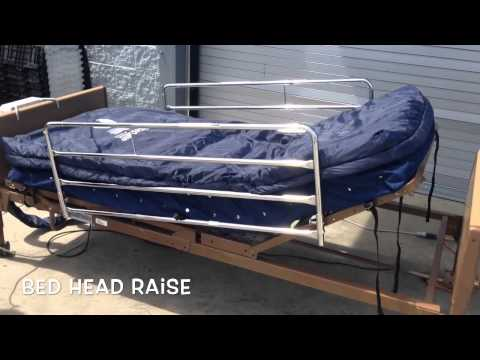 Invacare 5310IVC Semi Electric Bed With Microair MA55 Mattress