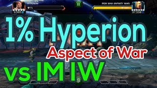 Hyperion 1% vs IM IW Aspect of War | How to Fight Aspect of War | How to Intercept MCOC