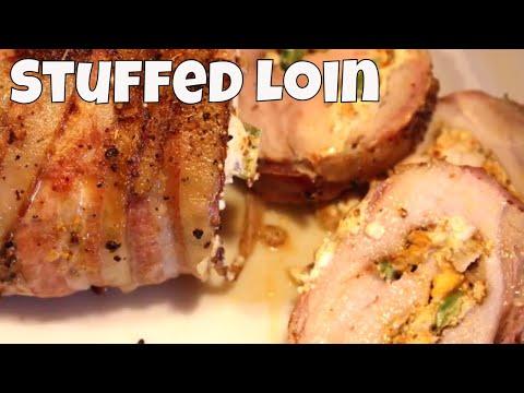 Bacon Wrapped & Stuffed Pork Loin