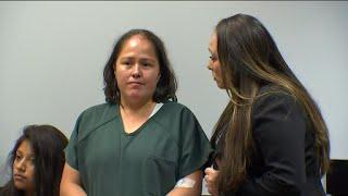 Mom accused of killing family shows bizarre behavior in court