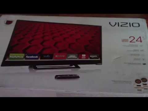 UNBOXING VIZIO E241i B1 24 Inch 1080p 60Hz Smart LED HDTV