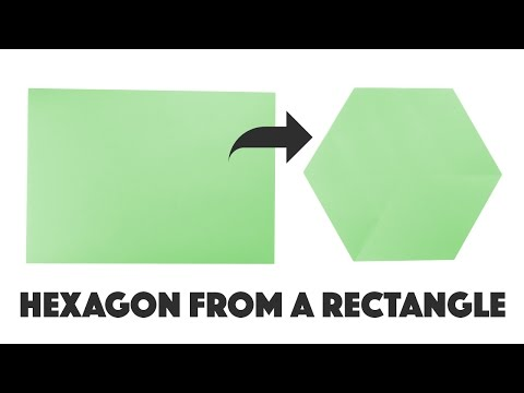 Make a Hexagon from a Rectangle ★ DIY ★ A4 / Letter Paper ⬣