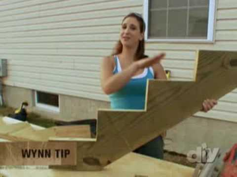 Building Outdoor Wooden Stairs - DIY Network