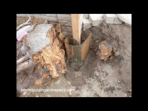 How To Use Cardboard Forms For Wood Fence Post Concrete Footing In Unusually Large Holes