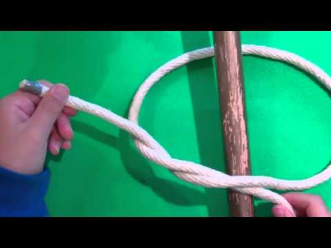 two half hitch - how to tie a rope to pole.MP4