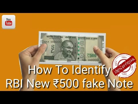 How To Identify RBI New ₹500 Fake Note - OFFICIAL (HD)