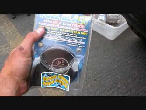 Car horn install video.  Low tone.