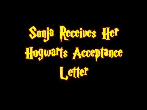 Sonja Receives Her Hogwarts Acceptance Letter