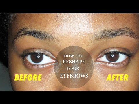 How to Reshape  and Arch Your Eyebrows