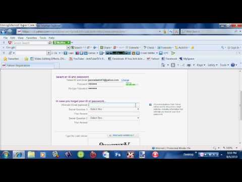 How To Make a Email Address At Yahoo.com 2010 Free!!! (Easy Way)