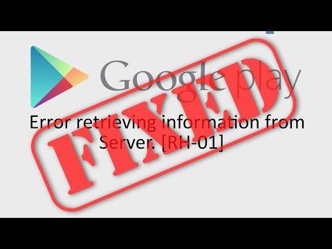 error retrieving information from server rh 01 play store(100% works)