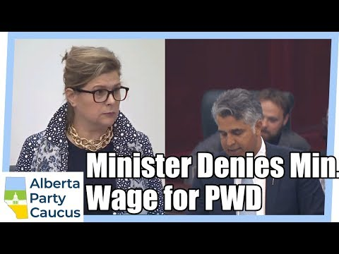 CSS Minister: PWD community doesn't want min. wage protection - MLA Karen McPherson, May 30, 2018
