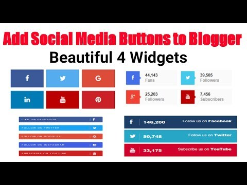 How to Add Social Media Icons to Blogger (HTML widget) | Hindi