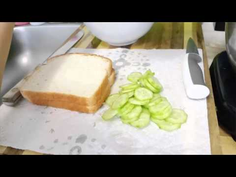 DIY Cucumber Sandwich and Afternoon tea time Setting