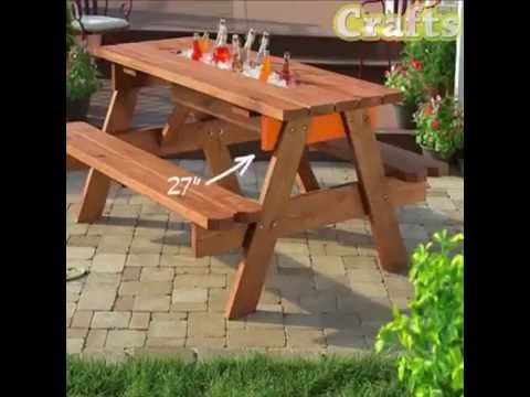 DIY Picnic Table with a Built In Cooler
