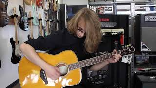 Yamaha Guitars Transacoustic Demo From Jim