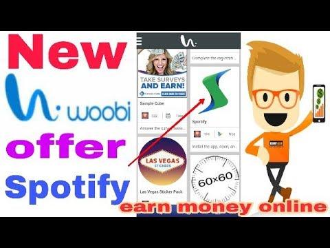earn money offer wall new woobi offer sportify [Hindi]