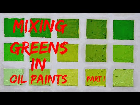 Oil Color Mixing Demo | Green Color Part 1