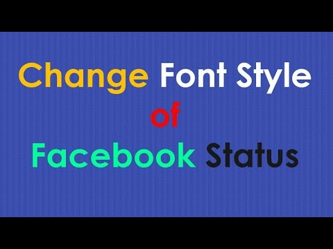 Facebook Font | How to Change Font Style of Your Facebook Status