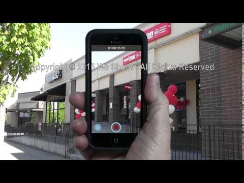 Example of Shooting Video On Vertical Smart Phone