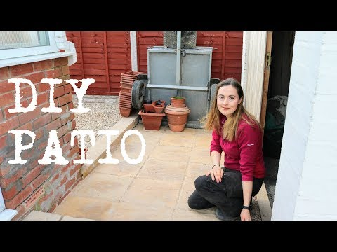 Laying a Garden Patio DIY | The Carpenter's Daughter