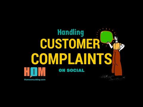 Handling Customer Complaints on Social Media