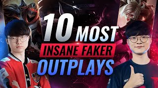 10 Most INSANE FAKER OUTPLAYS In League of Legends Esports History
