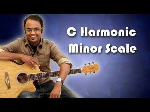 How To Play - C Harmonic Minor Scale - Guitar Lesson For Beginners