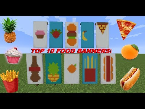 Top 10 Minecraft Food Banners! (Pizza, Pineapple, Cupcake & More!)