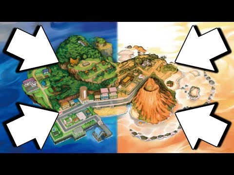 Pokemon Ultra Sun and Ultra Moon Map Comparison (New Areas and Buildings)