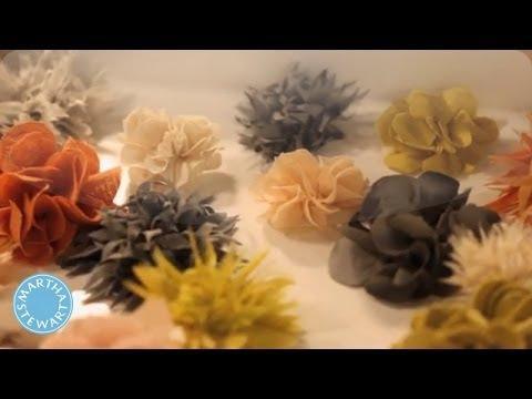 Easy Fabric Floral Brooch - Martha Stewart