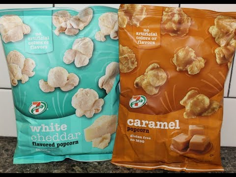 7-Eleven 7-Select: White Cheddar Popcorn and Caramel Popcorn Review