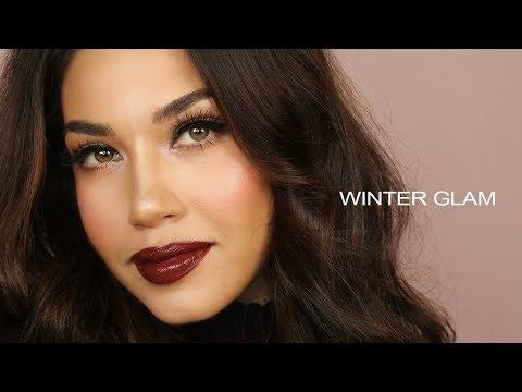 EASY WINTER GLAM MAKEUP | Eman