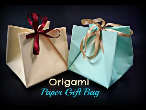 How to Make a Paper Gift Bag with Handles || Christmas Crafts Ideas Homemade || Craftastic